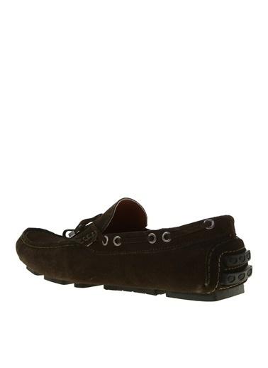 Fabrika Fabrika Yuvarlak Burun Toka Detaylı Bağcıklı Deri Erkek Ayakkabı Haki